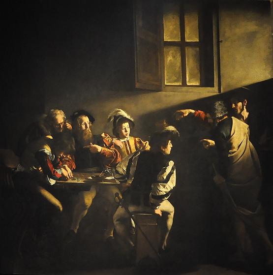 La vocación de San Mateo de Caravaggio Carava10