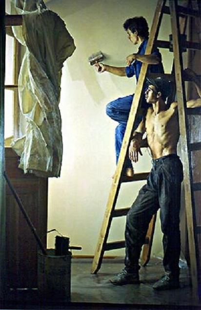 Pintando una pared. Claudio Bravo Cb_2710