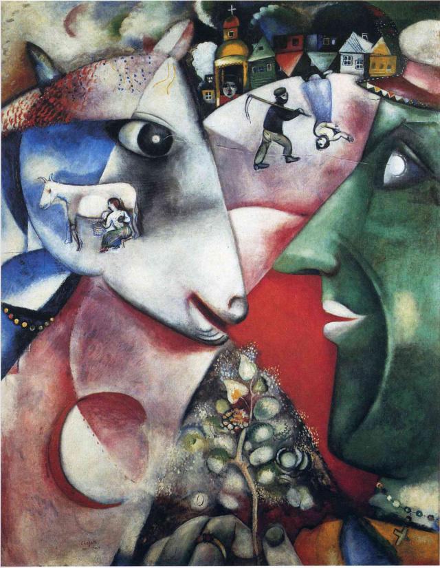 """""""Yo y la Aldea"""" Marc Chagall Chagal10"""