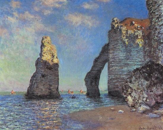 Acantilado en Etrerat. Claude Oscar Monet Claude10