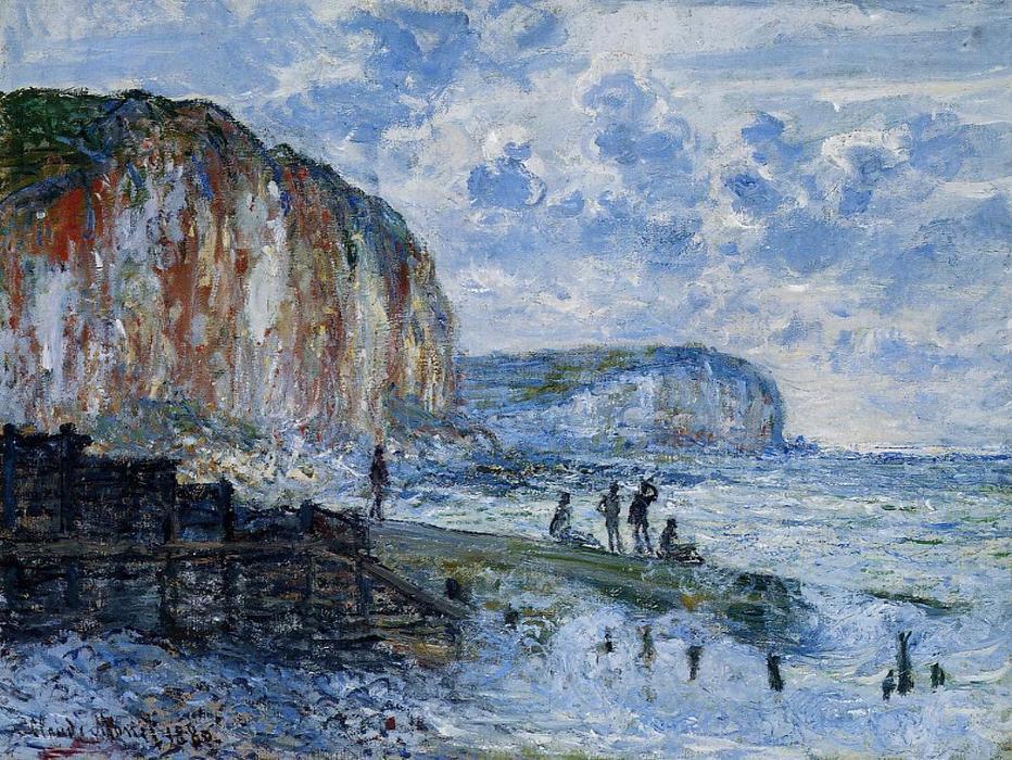 Acantilados de Les Petites-Dalles. Claude Oscar Monet  Claude11