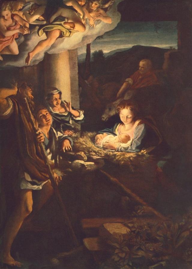 La adoración de los pastores-Correggio Correg10