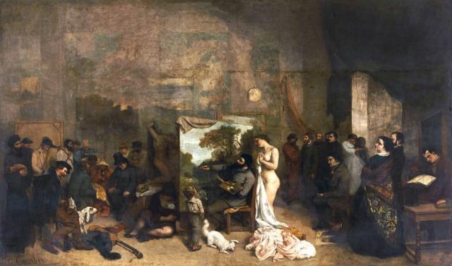 El taller del pintor--Courbet Courbe10