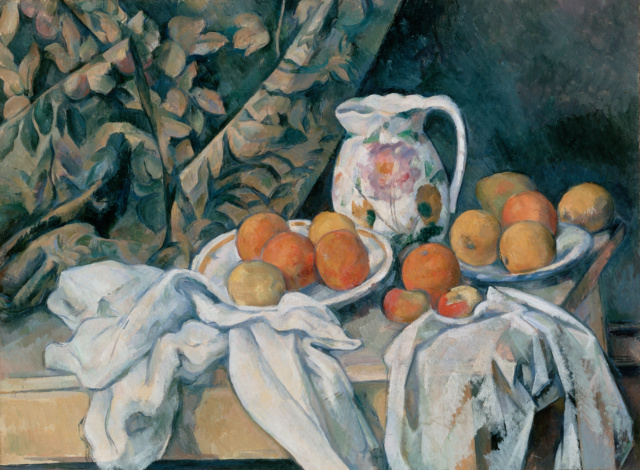 Bodegón con cortina -Paul Cézanne: Czozan10
