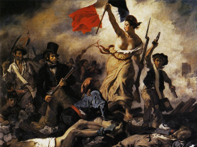 La libertad guiando al pueblo, Delacroix  Delacr10