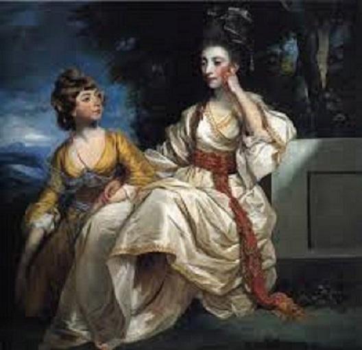 La señora Henry Thrale con su hija-Reynolds Descar13