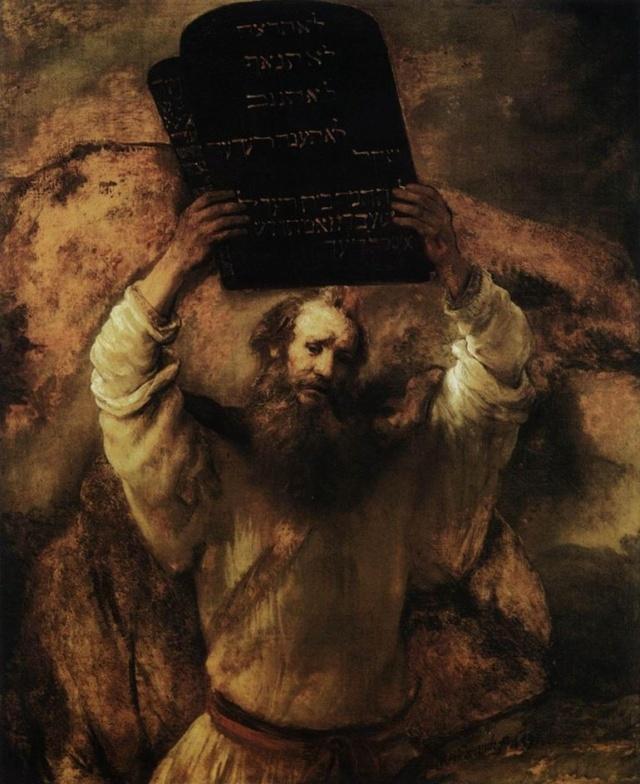 Moisés con las tablas de la Ley.  Rembrandt Digehn10