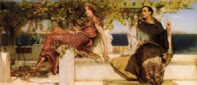 La conversión de Paula por San Jerónimo. Sir Lawrence Alma-Tadema Displa11