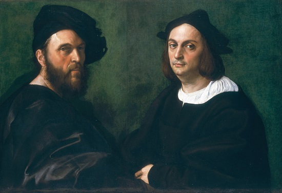 Retrato de Andrea Navagero y Agostino Beazzano.-Rafael Sanzio Double10