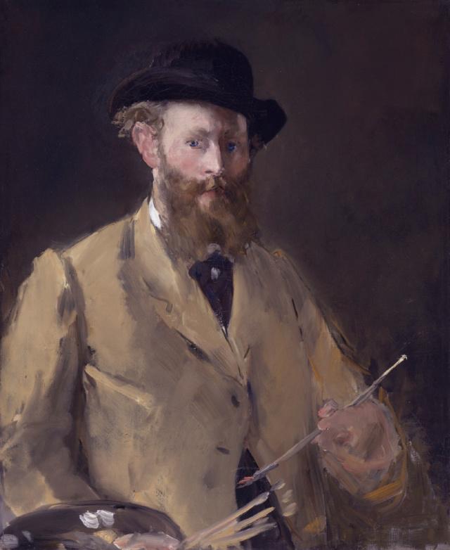 AUTORRETRATO CON PALETA de Édouard Manet Edouar11