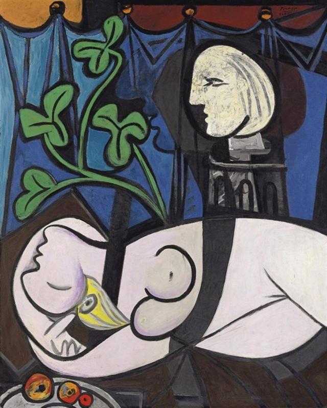 Desnudo, hojas verdes y busto--Picasso Fotono10