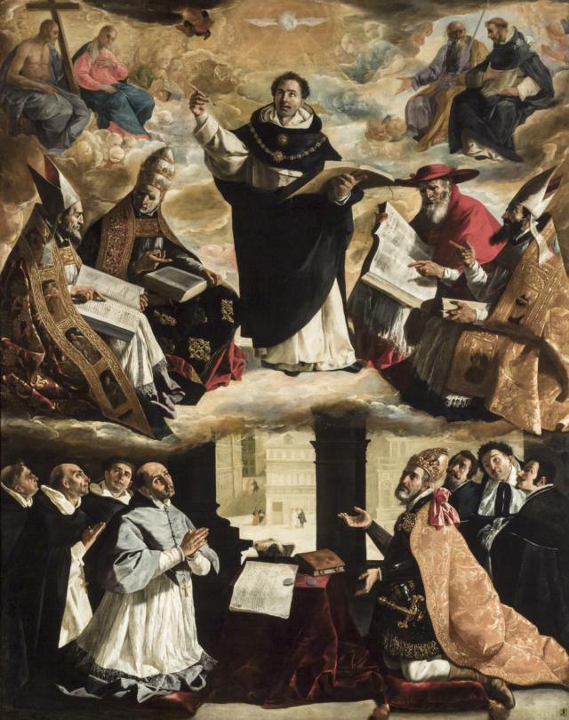 Apoteosis de Santo Tomás de Aquino-Zurbarán Franci12