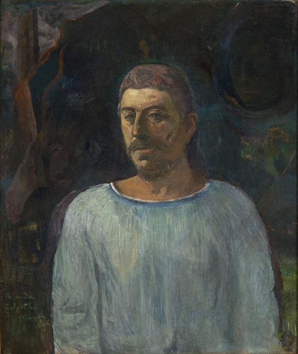 Autorretrato cerca del Gólgota. Paul Gauguin Gaugui10
