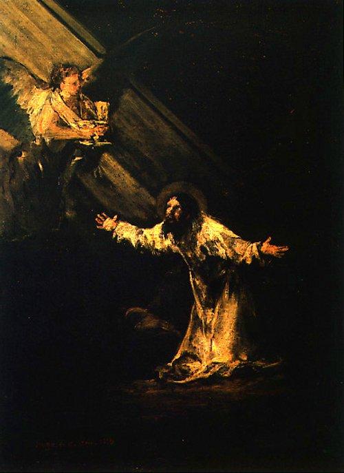 Cristo en el huerto de los olivos -Francisco de Goya Goya4110