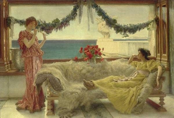 Melodía en una terraza mediterránea. Sir Lawrence Alma-Tadema H0046-10
