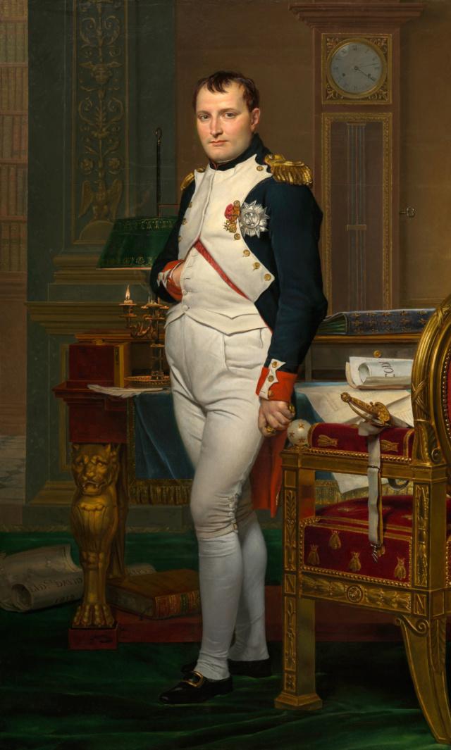 Retrato de Napoleón en su gabinete de trabajo. Jacques-Louis David Jacque10