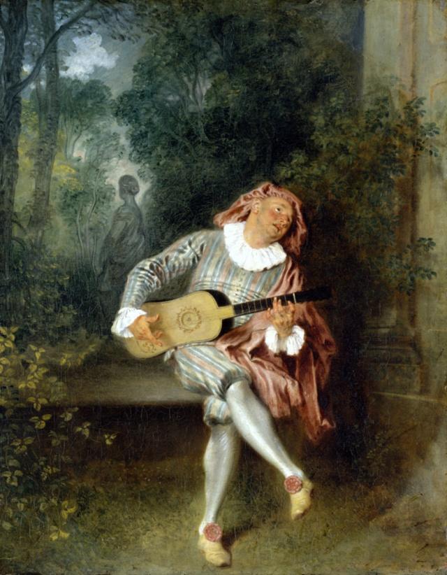 Mezzetin. Jean-Antoine Watteau Jean-a10