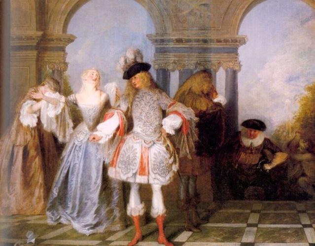 Los jugadores franceses. Jean-antoine-Watteau Jean-a11