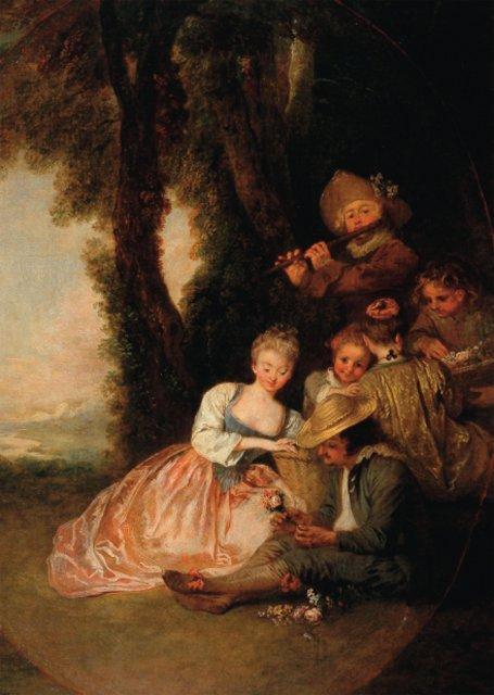 'La déclaration attendue' Jean Antoine Watteau Jean-a12