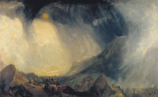 Aníbal cruzando los Alpes-William Turner Joseph10