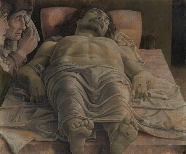 Lamentación sobre Cristo muerto -Mantegna Lament10