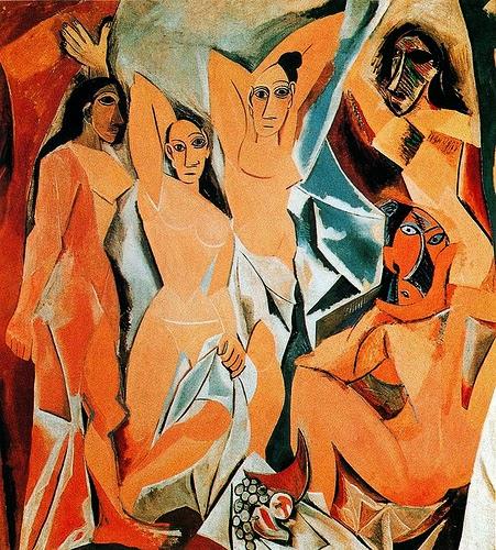 Las señoritas de Avignon-Pablo Picasso Las-se10
