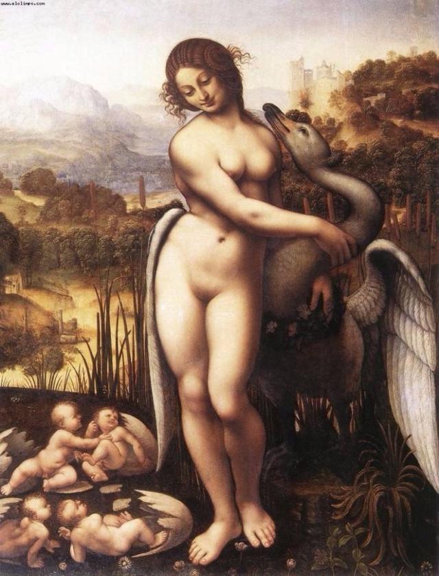 Leda y el Cisne de Leonardo da Vinci Leda-y10