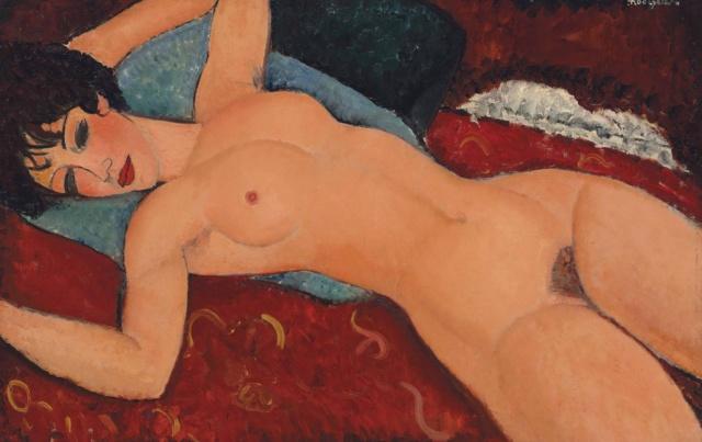 Pintura: Desnudo Rojo-Modigliani Modigl10