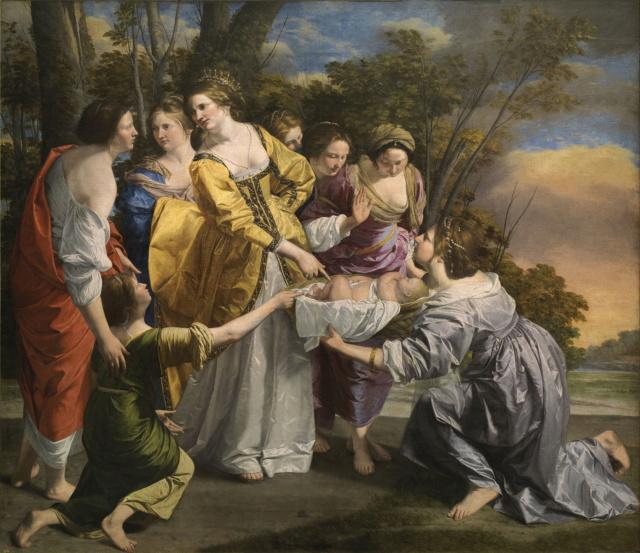 Moisés salvado de las aguas. Orazio Gentileschi Moiszo10