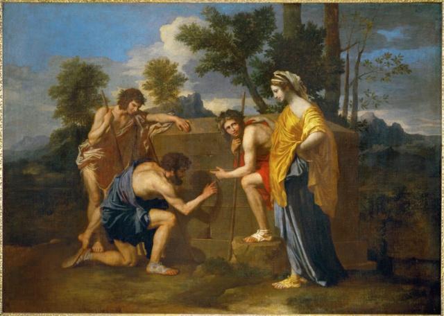Los pastores de Arcadia -Poussin Nicola10