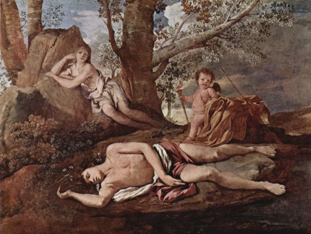 Eco y Narciso-Poussin Nicola13