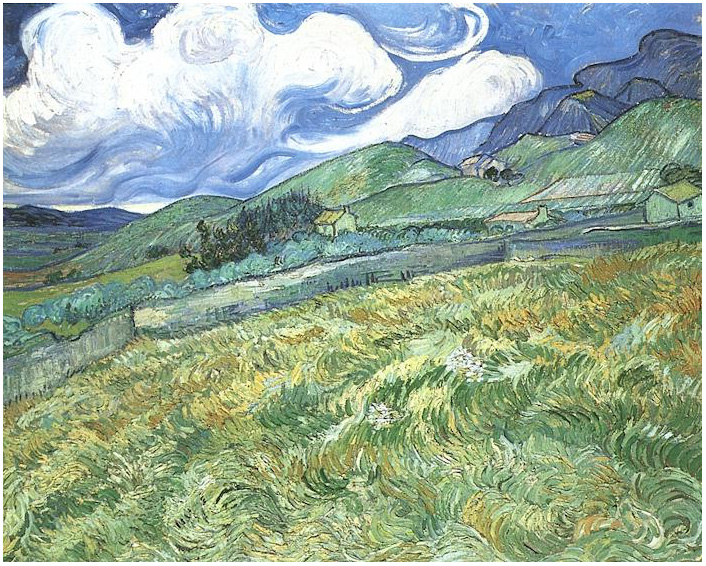 Paisaje montañoso detrás del Hospital Saint Paul . Van Gogh  Paisaj10