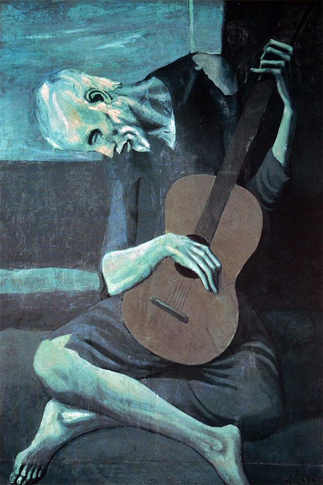 Viejo con guitarra-Picasso Picass11
