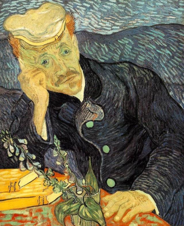 El doctor Paul Gachet . Vincent van Gogh Portra10