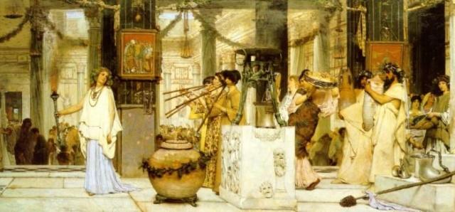 La Fiesta de la Vendimia. Sir Lawrence Alma-Tadema Sir-la10