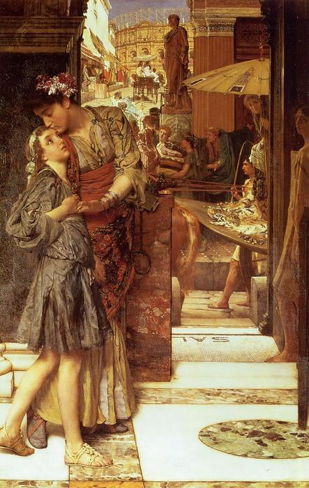 El beso de despedida. Sir Lawrence Alma-Tadema Sir-la11