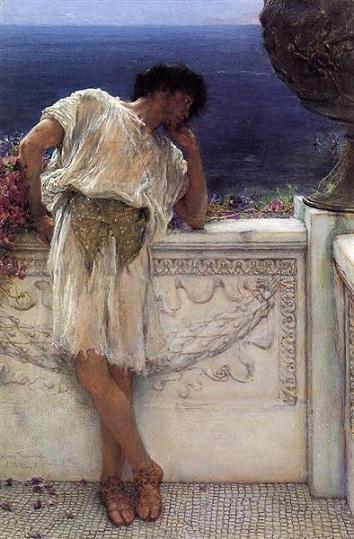 El Poeta Gallus Dreaming. Sir Lawrence Alma-Tadema The-po10