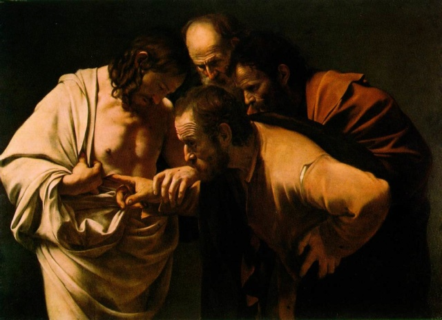 La incredulidad de Santo Tomás-Caravaggio The_in10