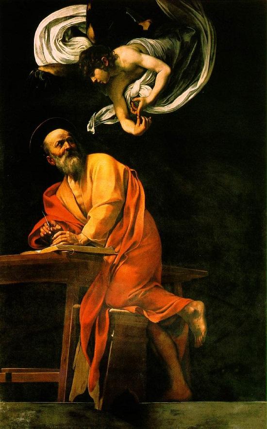 La inspiración de San Mateo- Caravaggio The_in11