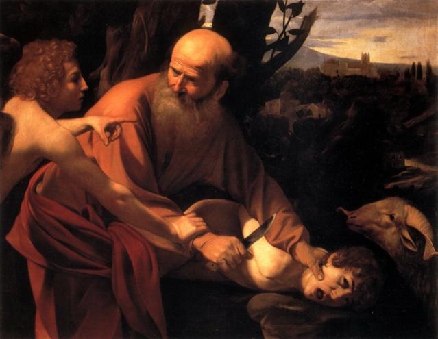El sacrificio de Isaac de Caravaggio The_sa10