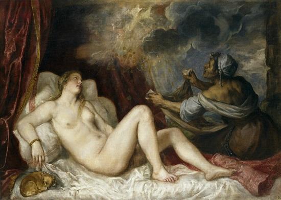 Dánae recibiendo la lluvia de oro-Tiziano Tizian11