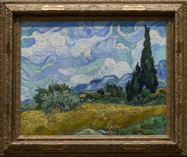 Campo de trigo con cipreses Van Gogh 1889 Vincen11