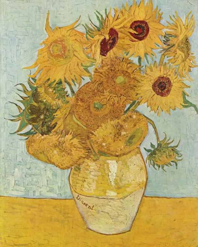 Girasoles o Vaso con quince girasoles -Vincent van Gogh Vincen12