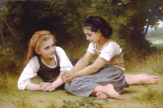 Las recolectoras de nueces--Bouguereau Willia11