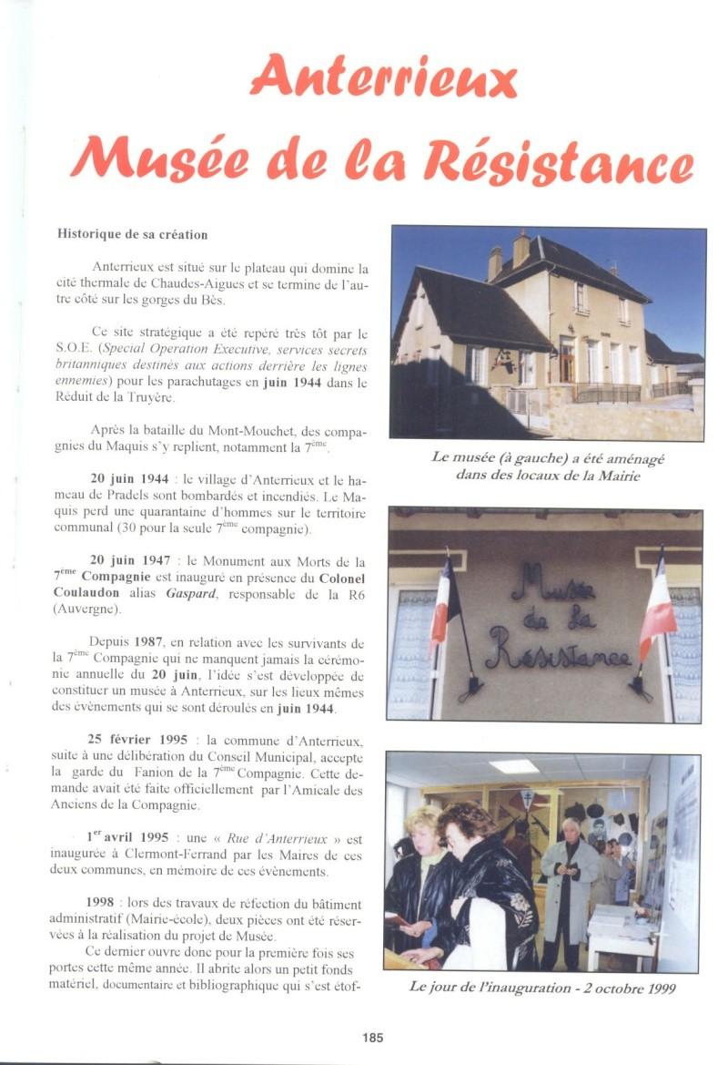 Le MONT-MOUCHET, haut lieu de la Résistance - Page 2 Anterr10