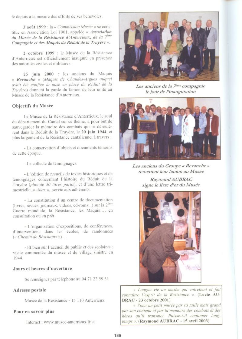 Le MONT-MOUCHET, haut lieu de la Résistance - Page 2 Anterr11