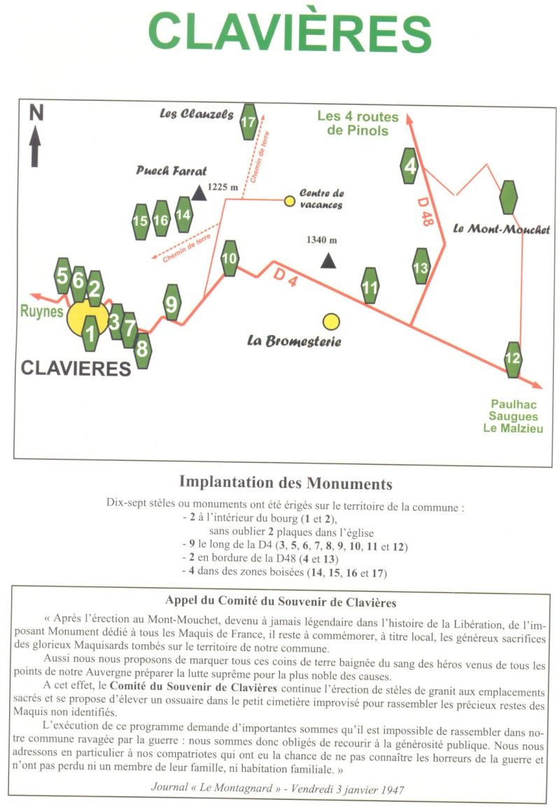 Le MONT-MOUCHET, haut lieu de la Résistance - Page 2 Clavie10