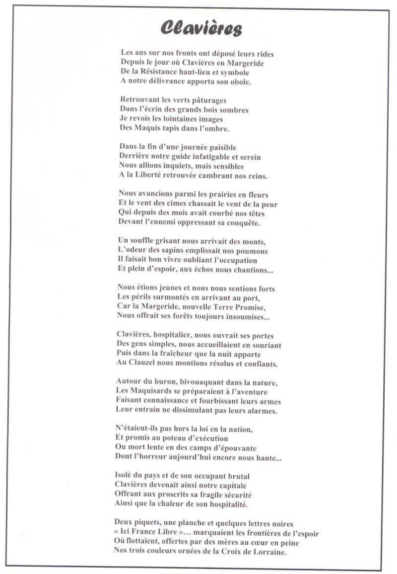 Le MONT-MOUCHET, haut lieu de la Résistance - Page 2 Clavie12
