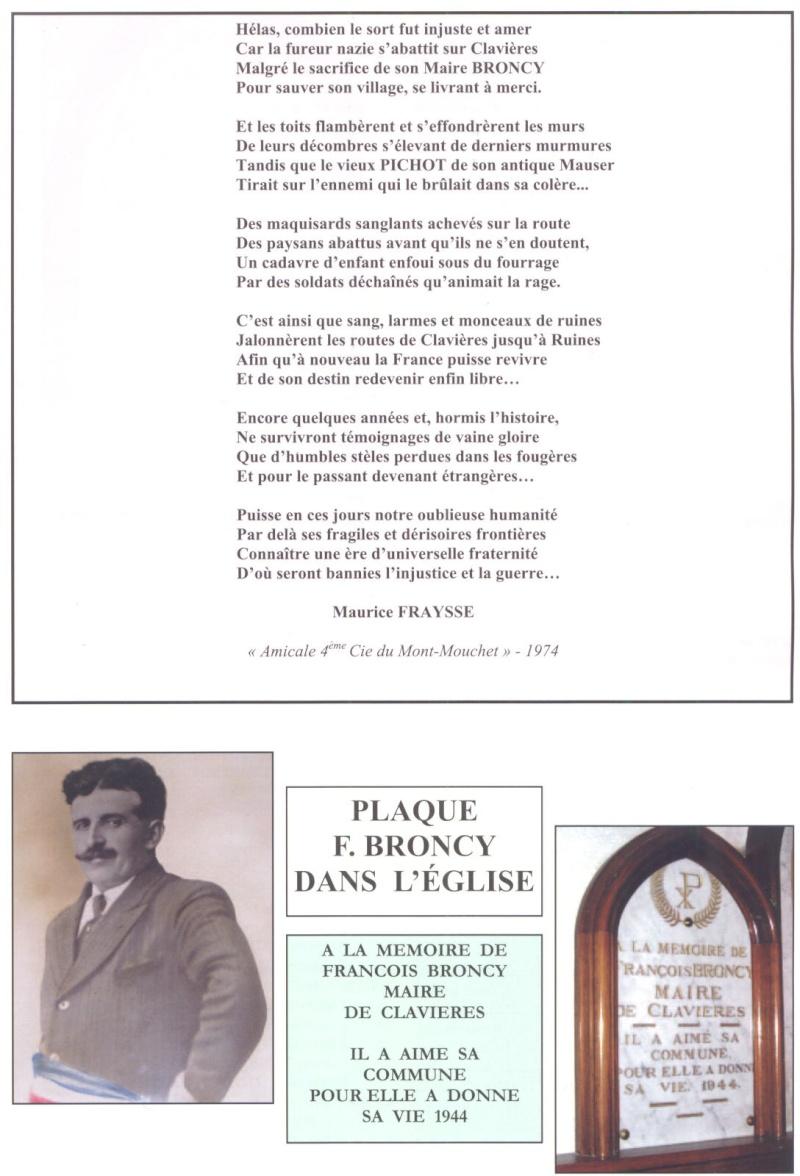 Le MONT-MOUCHET, haut lieu de la Résistance - Page 2 Clavie13