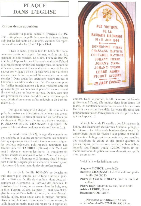 Le MONT-MOUCHET, haut lieu de la Résistance - Page 2 Clavie14